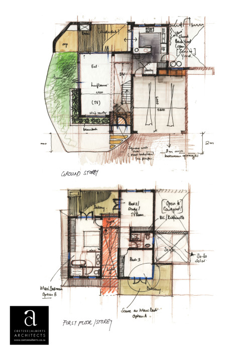 Protea Place - Concept Hand Sketch