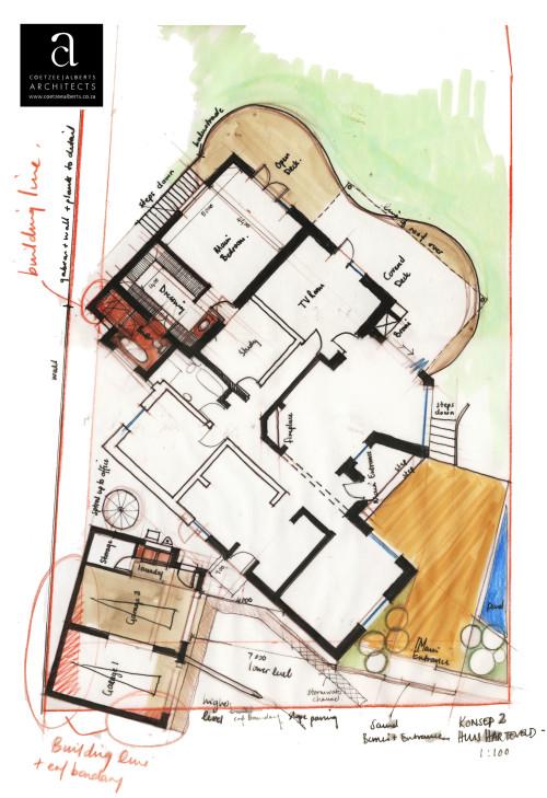 House Harteveld - Concept hand sketch